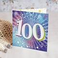 Carte invitation anniversaire 100 ans 100 ans, Disco, Vernis 3D, Double volets