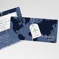 Faire-Part Mariage Voyage Blue Wedding Pass