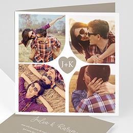 Faire-part mariage photo Lui+Elle