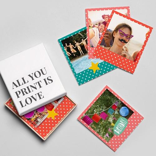 Magnet Photo Côtillons d'anniversaire gratuit