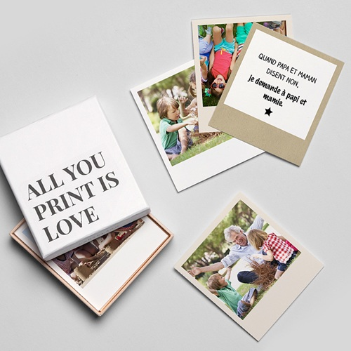 Magnet photo rétro Grands-parents d'amour gratuit