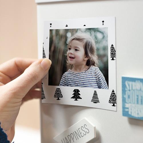 Magnet photo rétro Petits Arbres