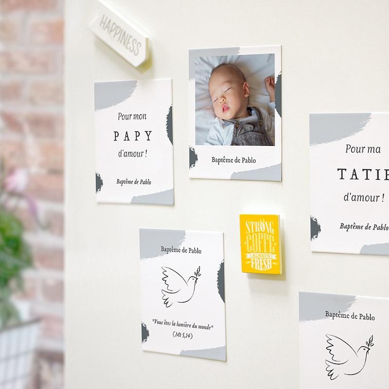 Carte Remerciement Baptême Originale Artsy-Craftsy pas cher