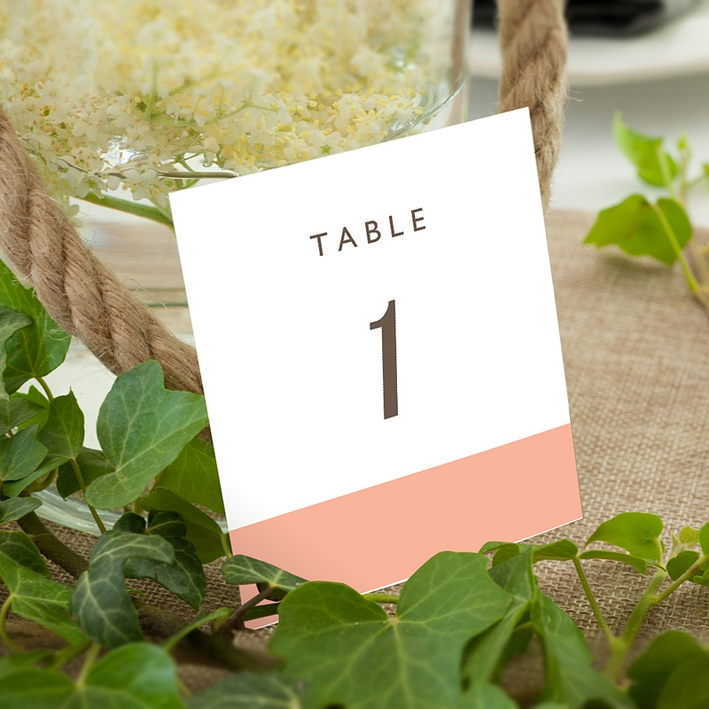 Marque Table Mariage Color Touch