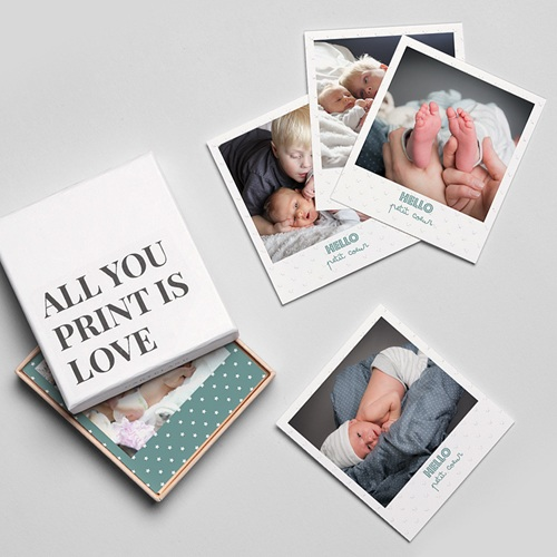 Tirage Photo Rétro Hello Baby Boy gratuit