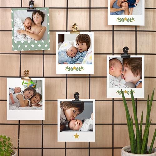 Tirage Photo Rétro Vert et Ocre pas cher