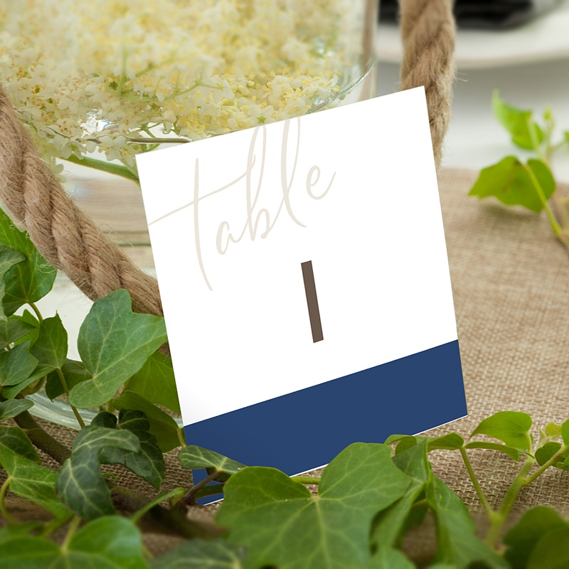 Marque Table Mariage Blue Color Touch