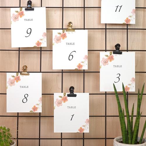 Marque Table Mariage Rose Botanique pas cher