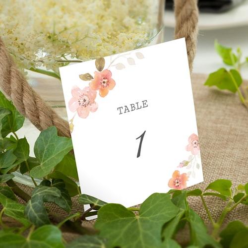 Marque Table Mariage Rose Botanique