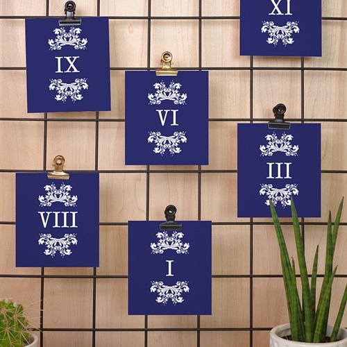 Marque Table Mariage Bleu Ottoman pas cher