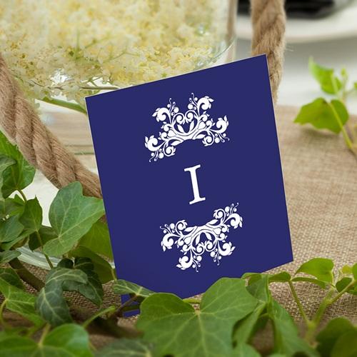 Marque Table Mariage Bleu Ottoman