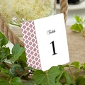Marque Table Mariage Rouge Ottoman