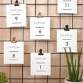 Marque Table Mariage Minimaliste Gris & Blanc pas cher
