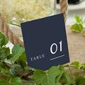 Marque Table Mariage Nuances Minimalistes