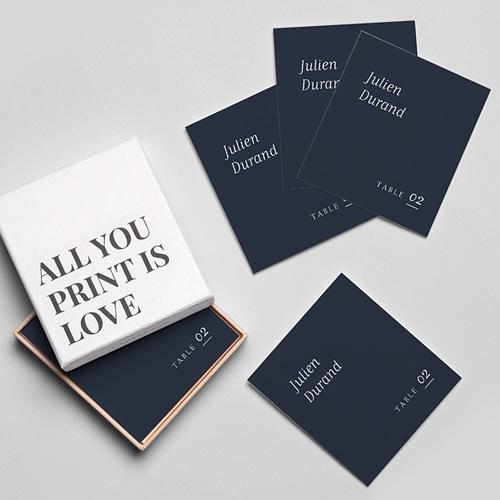 Marque Place Mariage Nuances Minimalistes gratuit