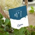 Marque Table Mariage L'or Bleu