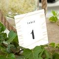 Marque Table Mariage Minimal Chic