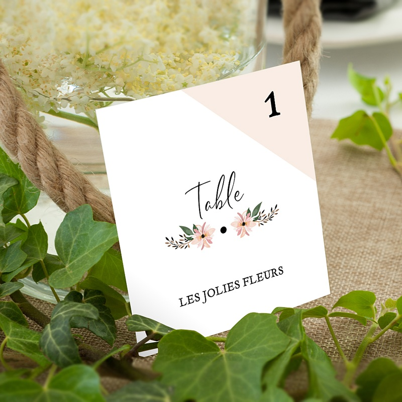 Marque Table Mariage Douceur des fleurs