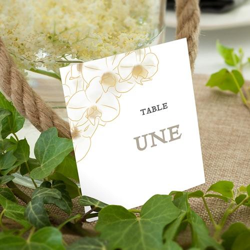 Marque Table Mariage Orchidées Vintage