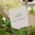 Marque Table Mariage Modern Minimalist