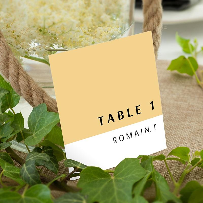 Marque Table Mariage Jaune Estival
