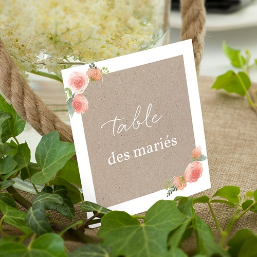 Marque Table Mariage Champêtre Chic
