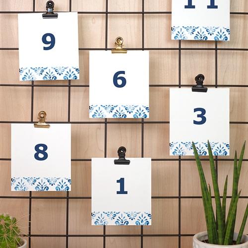 Marque Table Mariage Azulejos Bleus pas cher