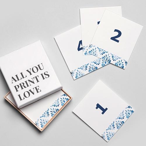 Marque Table Mariage Azulejos Bleus gratuit