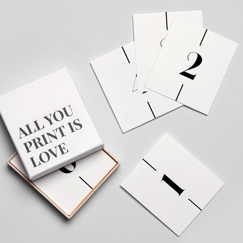 Marque Place Mariage Be Bold Minimalisme gratuit