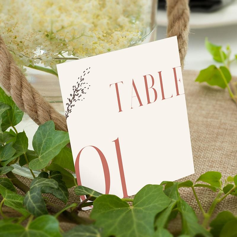 Marque Table Mariage Union Parfaite