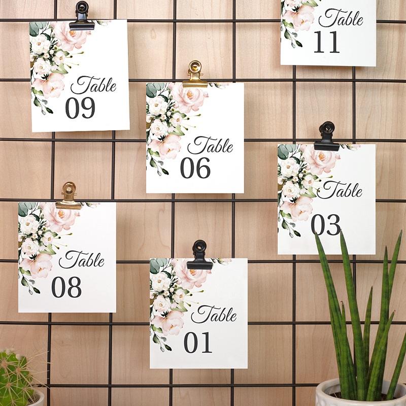 Marque Table Mariage Romantique Kraft Numéro de Table pas cher