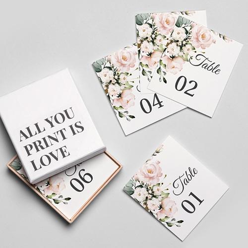 Marque Table Mariage Romantique Kraft Numéro de Table gratuit