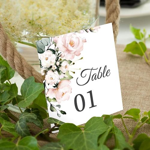 Marque Table Mariage Romantique Kraft Numéro de Table