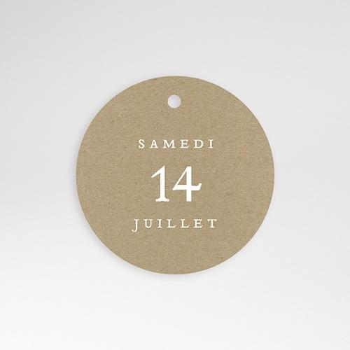 Etiquette Cadeau Mariage Elégantes Fougères, 4,5 cm