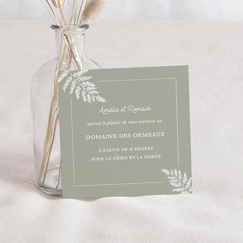 Carte Invitation Mariage Elégantes Fougères, 10 x 10