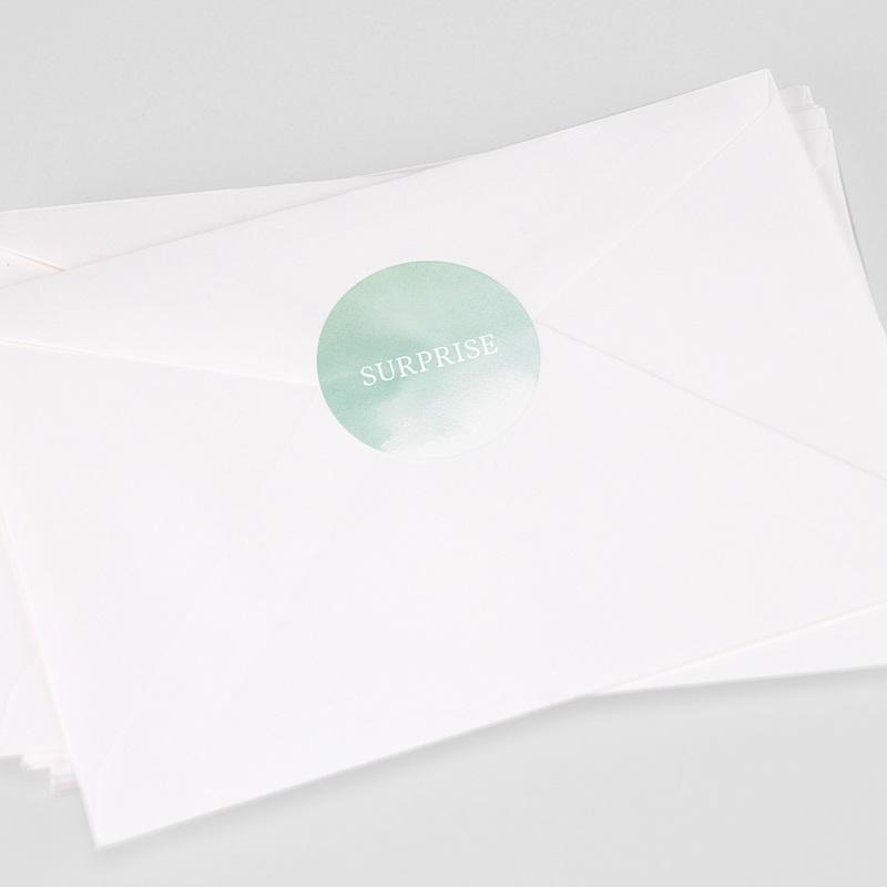 Etiquette Autocollante Naissance Petits Pieds, 4,5 cm