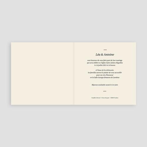 Faire-Part Mariage Personnalisés - Union Gris et Beige 8439 preview