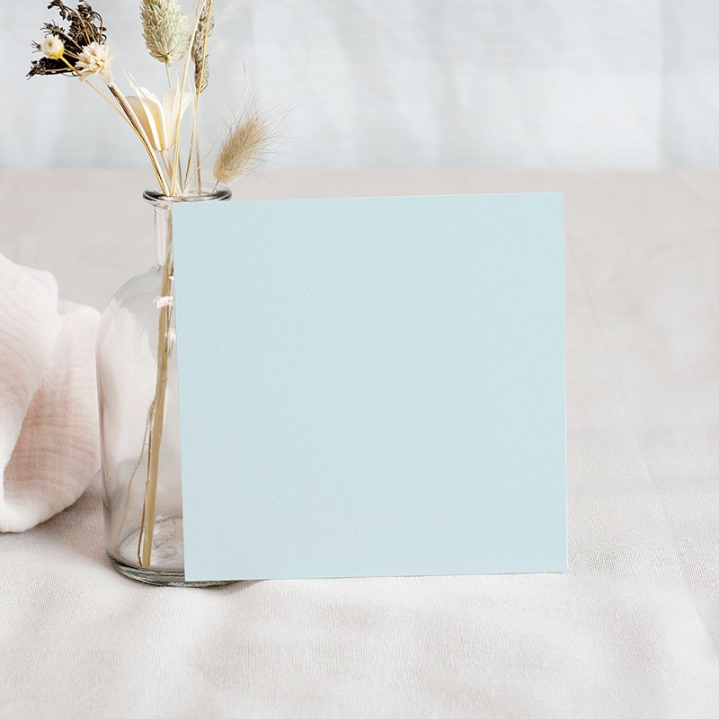 Carte Remerciement Naissance Garçon Little Cloud Blue, 10  x 10 pas cher