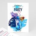 Carte Invitation Anniversaire Adulte 40 ans, cocktail, vernis 3D