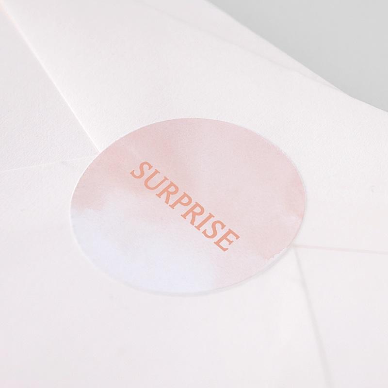 Etiquette Autocollante Naissance Belles empreintes, Aquarelle, 4,5 cm pas cher