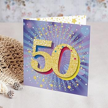 Carte Invitation Anniversaire 50 Ans Echantillon Offert Carteland