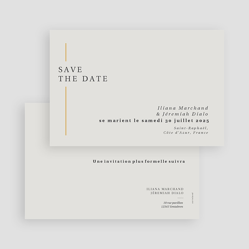 Save The Date Mariage Cadre Or gratuit