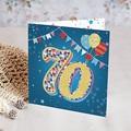 Toutes les Invitations Anniversaire Adulte Cirque, 70 ans, Vernis 3D, carré double