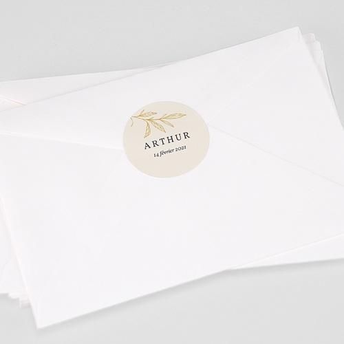 Etiquette Autocollante Naissance Jeune Pousse, 4,5 cm