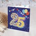 Carte invitation anniversaire 20 ans Cirque, 25 ans, Vernis 3D, double