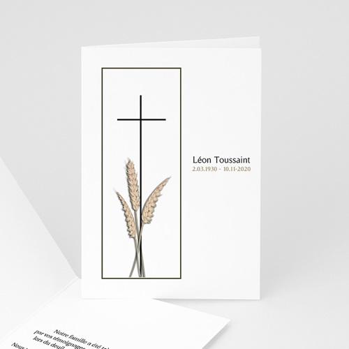 Carte Remerciement Décès Chrétien Renaissance éternelle