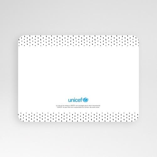Faire-Part Naissance Fille UNICEF Tapis ethnique, photo, bords arrondis pas cher