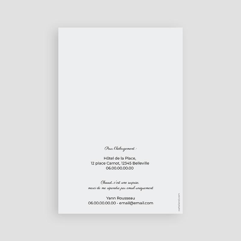 Carte invitation anniversaire 50 ans Chiffres 50 et +, 2 photos, 10x15 pas cher