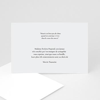 Carte Remerciement Deces Echantillon Offert Carteland