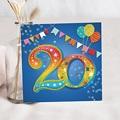 Carte invitation anniversaire 20 ans 20 ans Fiesta, Vernis, Carré